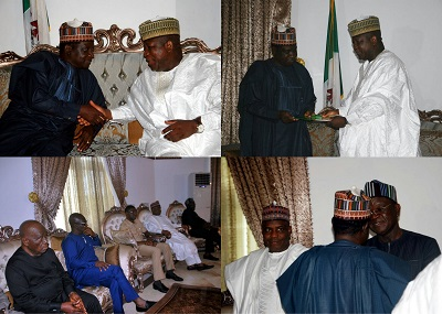 Governors on Condolence visit to Gov Lalong of Plteau State, north - central Nigeria.