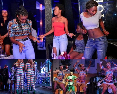 Image result for pictures of women who were raided in night clubs by police in Abuja